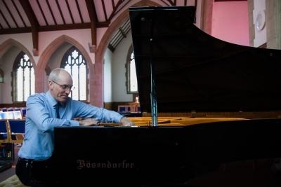 Paul Fox tuning a Bosendorfer piano