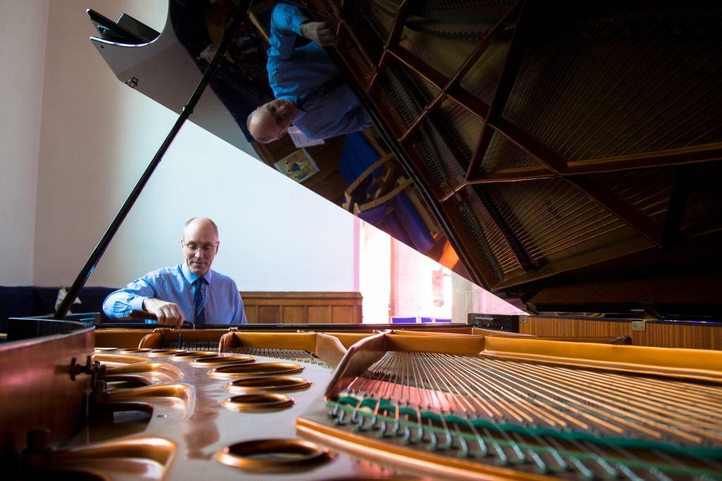 Sheffield Piano Tuner, Paul Fox tuning grand piano